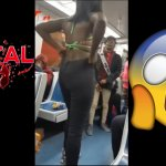 BRUTAL !!!!! Compilation Subway Street Fight Part 2